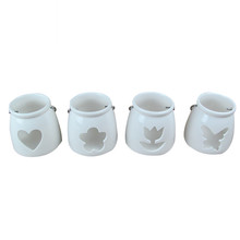 Christmas decoration ceramic tealight candle holder