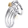 2015 Hot sale Male chastity device Steel Chastity Cock Penis Cage with Ring & Padlock Sex Toys for men