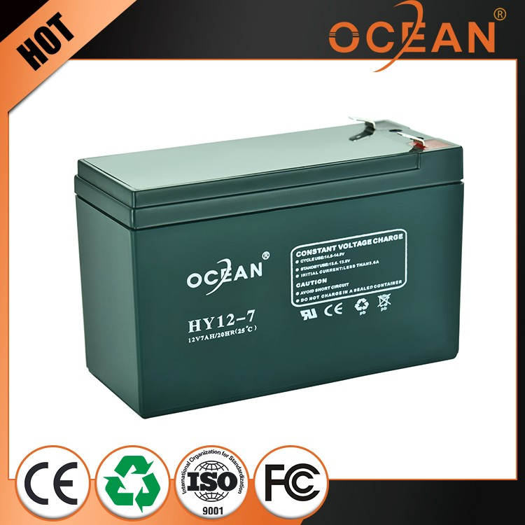 Full capacity china supplier 12V industrial 7ah ups battery price