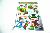 2016 removable window christmas stickers