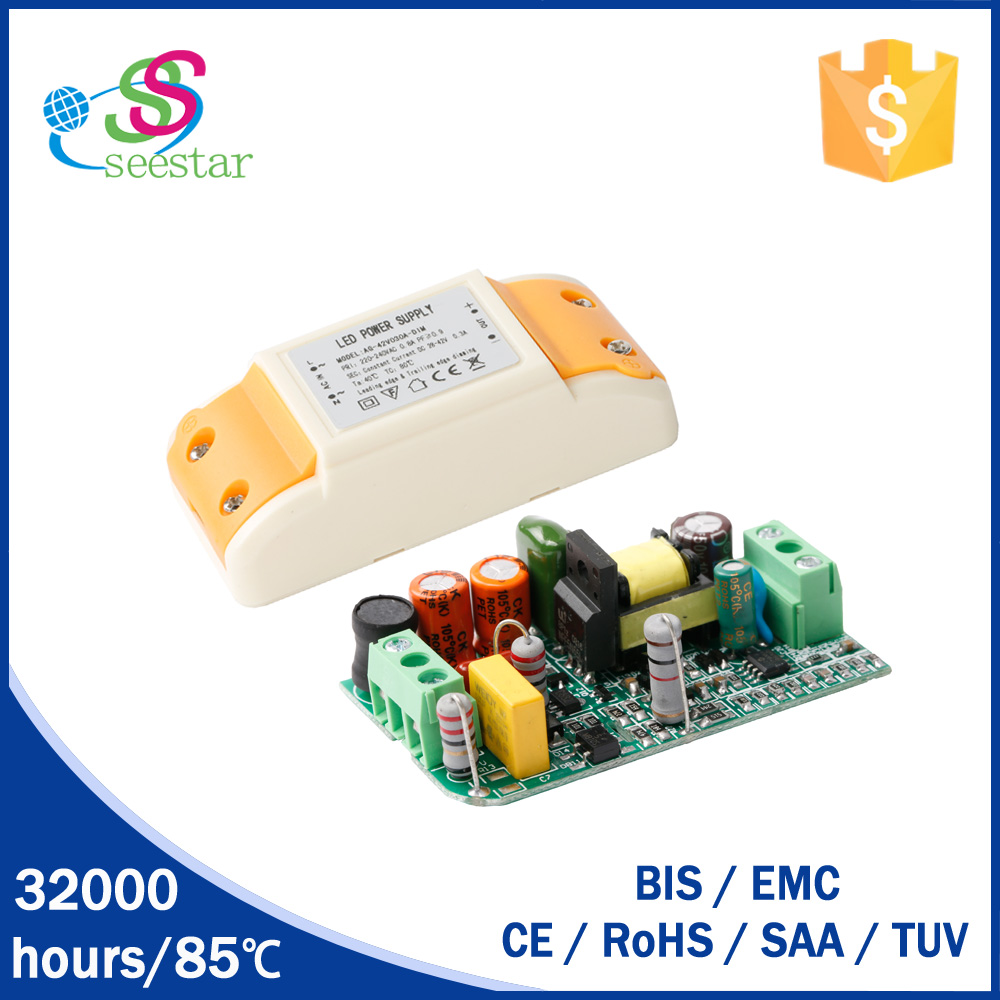 SAA LED driver high pf constant current 300ma 6-12w triac dimmable led driver