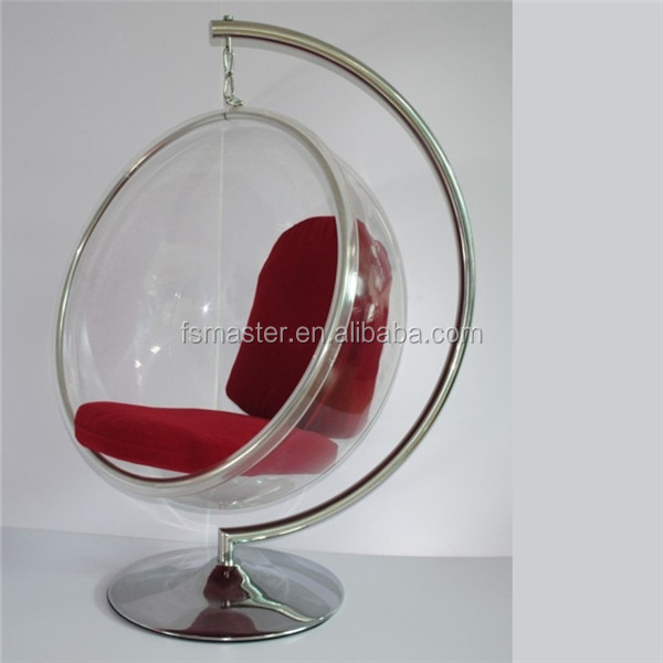 standing ball Acrylic swing home use outdoor decoration bubble chair with stand