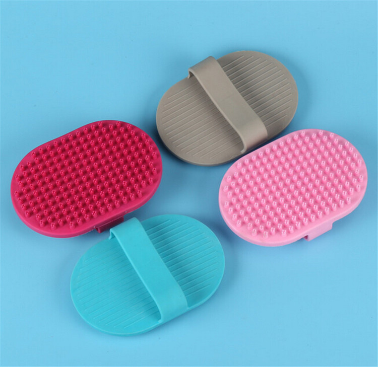 Cleaning Product Soft Rubber Dog Brush Massage Pet Grooming Brush