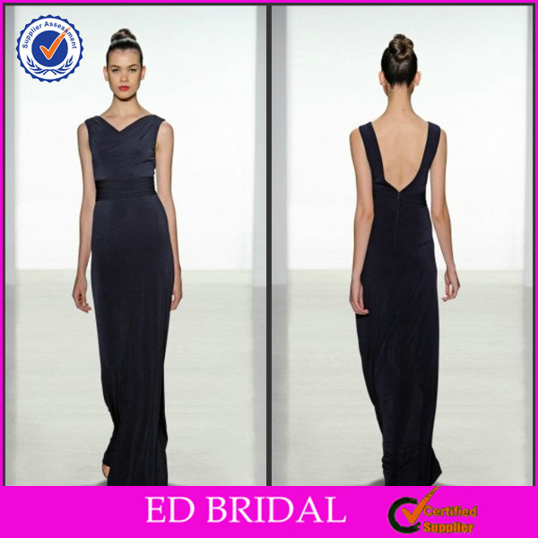 2014 New Style Black Cap Sleeve V-Neck Ribbons Sash Low Back Floor Length Super Plus Size Bridesmaid Dresses