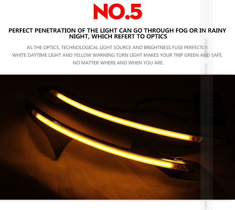 hottest sale External Daylight Led Daytime Running light for Waterproof IP67 Auto Lighting System