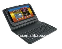 "PU Leather Protective Stand Case Bag Cover w/ Wireless Bluetooth 3.0 silicone Keyboard for 10.1"" Samsung Galaxy Tab"