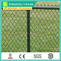 25mm/50mm Chain Link Fence In PVC Coated Used For Golf Sports