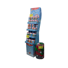 Point of Sale Floor Standing POS Paper Shelf Display for Bottles