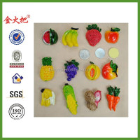 Free Shipping 3D Refrigerator Magnets Large Resin Artificial Vegetables Fridge Magnets Fruit Fridge Stickers