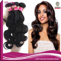 wholesale Top Quality Natural Virgin Human Hair Extension, Brazilian Human Hair Wet And Wavy Weave