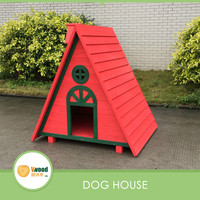 A Frame Wooden Dog House Pet Log Cabin