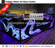glass bar counter designs, home and night club bar counter, led bar counter for sale