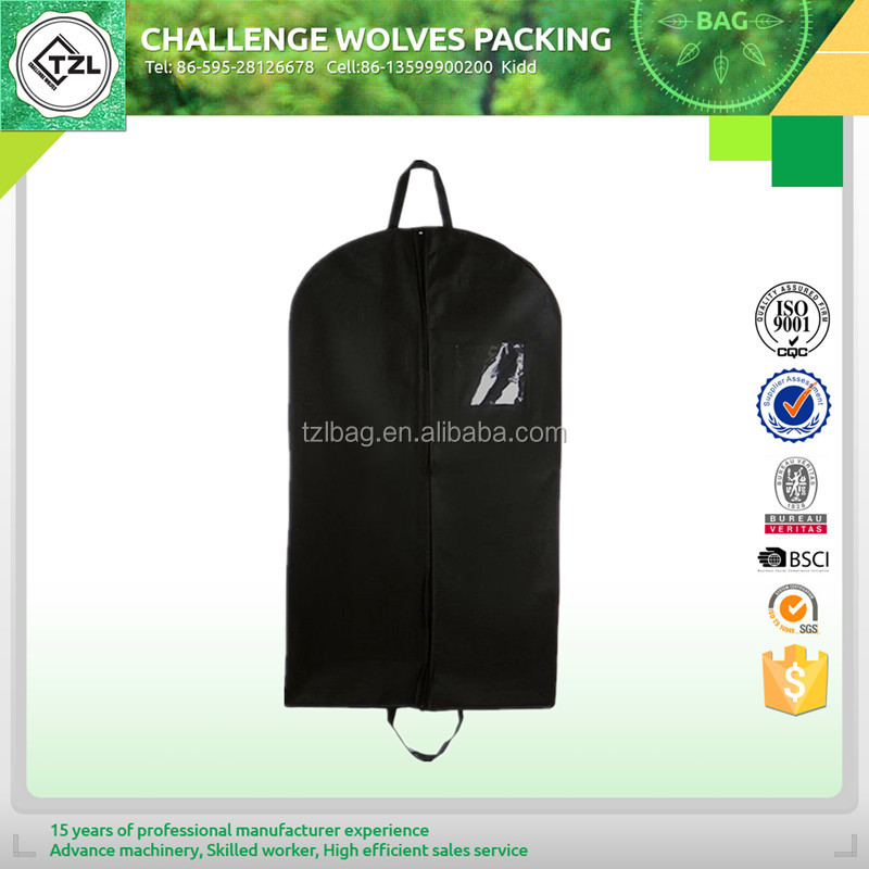 Durable suit cover bag and garment bag for traveling
