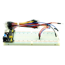 Brand New MB102 Power Supply Module 3.3V 5V+Breadboard Board 830 <strong>Point</strong>+65PCS Jumper cable for AUno