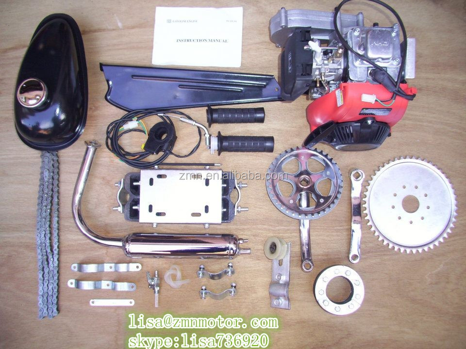 4 stroke 80cc bicycle engine kit/4 cycle bike gas motor egine kit/huasheng 49cc engine