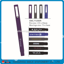 Promotional plastic bic ballpoint square pen with logo