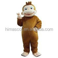 Cheap funny curious george mascot costume