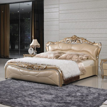 French rococo modern storage children bed design traditional leather bed with crystals, bed wooden board