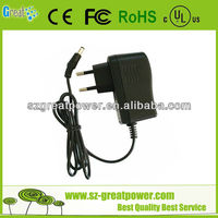 android tablet 9 volt charger with CE FCC ROHS UL
