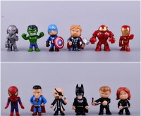 Free shipping wholesale 240pcs mini toy 20sets super hero model toy for boys plastic promotion gift Q style action figure