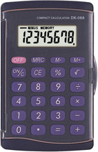 Two power support 8 digits electronic calculator
