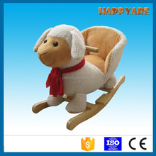 sheep rocking chair with wooden base