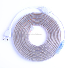 100M RGB 220V Led Strip 5050 Flexible Waterproof Warm White LED Strip Light waterproof with 220 v power adapter(plug)