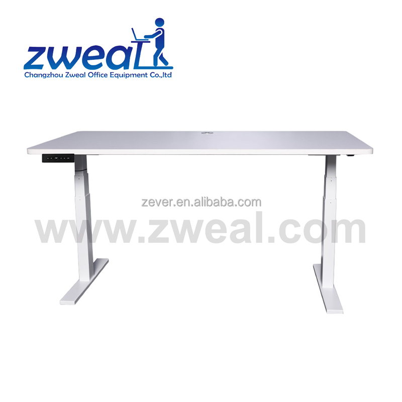 Durable motorized adjustable height metal dining table legs