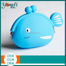 Lovely Wallet Purchase Silicone Fish Coin Purse for Children