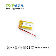 Shenzhen CSIP rechargeable Li-ion 3.7V 100mah 651020 Lipo Battery for medical equipment