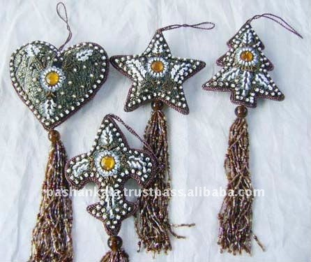 Hand Beaded Christmas Ornaments