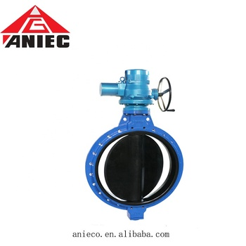 ductile iron motorized / electric wafer rubber lining 4 inch butterfly valve price