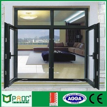 aluminium frame casement window container shipping home with Tempered Laminated Glass