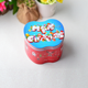 Merry Christmas Design Blue and Red Theme Apple Shape Tin Box