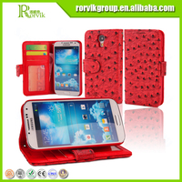 for Samsung Galaxy S4 I9500 new arrivel PU leather phone protective case