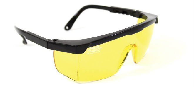 maxill Frames - Black With Yellow Lenses
