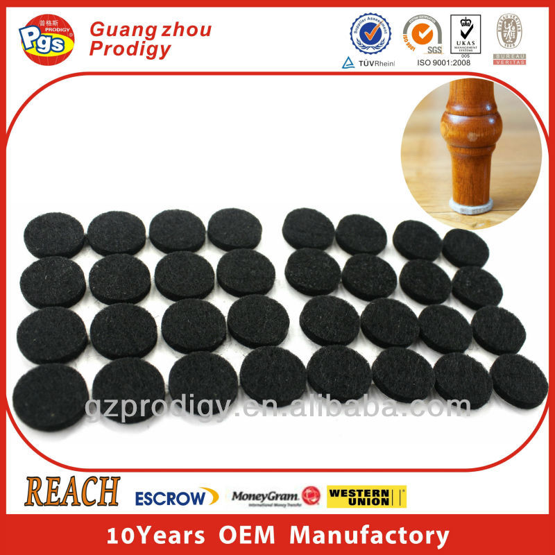 Round Shape 20mm adhesive table leg protectors furniture fittings