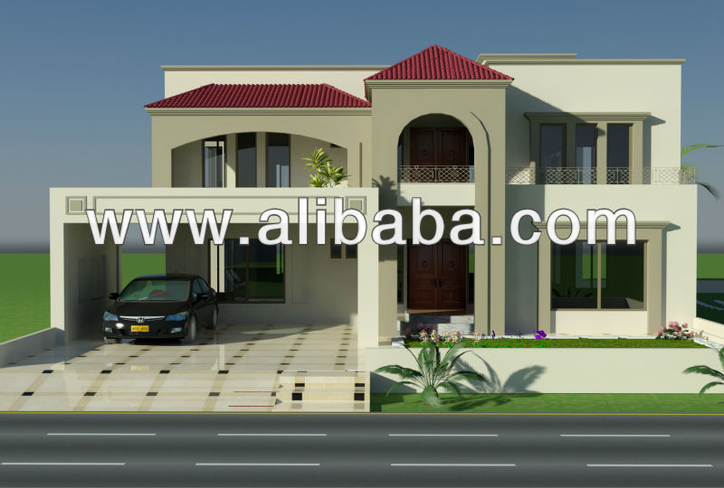 2 Kanal Lahore Pakistani House Design & 1 Kanal, pakistani house designs floor plans, 3D Front Elevation
