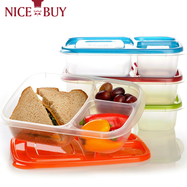 2017 Top Excellent Quality Leakproof Bento Lunch Box Plastic Lunch Container For Kids