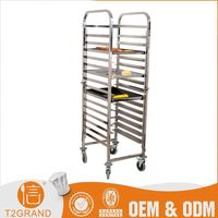 cheap price fashionable design Stainless Steel bread cart For Hotel