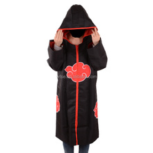 Wholesales Japanese Naruto Anime Akatsuki Cloak With Hoodied 4XXXXL Plus Large Size Cosplay Costumes