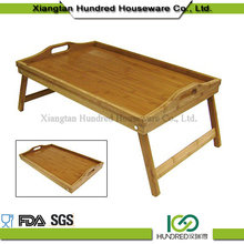 Portable bamboo wood breakfast bed tray with good quality