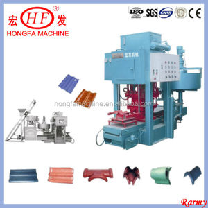 cement roof tile making machine / full automatic tile production line / concrete room tiles making machinery