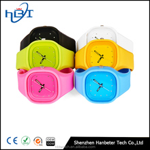 Hot selling fashion jelly silicone watch wrist watches men women