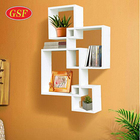 Wholesale Personalized Floating Cube MDF Wall Mounted Shelf