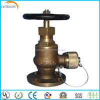 Bronze Angle Pattern Flanged and Screwed End Hose Safety Valves 10K DN25