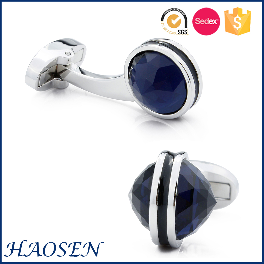 Hot Sale New Arrived Dark Blue Nature Stone Cuff links