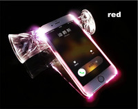 2016 Hot sell fashion design flash LED light Transparent TPU cell phone case for iphone 6 6plus