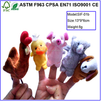 New Little Red Hen eductional story plush toys finger puppets and story