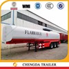 2016 hot sale China fuel tranpsortation tank truck trailers for sale